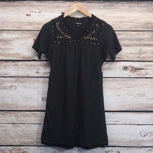 Madewell Silk Dress Sequin Pleated Shift